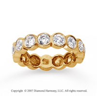 2 1/2 Carat Diamond 14k Yellow Gold Round Bezel Eternity Band