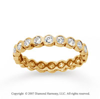 1/2 Carat Diamond 18k Yellow Gold Round Bezel Eternity Band