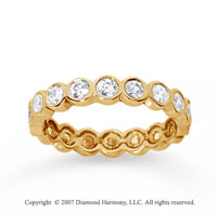1 Carat Diamond 18k Yellow Gold Round Bezel Eternity Band