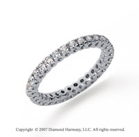 1/2 Carat Diamond Platinum Round Tigerclaw Eternity Band