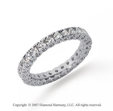 3/4 Carat Diamond Platinum Round Tigerclaw Eternity Band