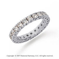 1 Carat Diamond Platinum Round Tigerclaw Eternity Band