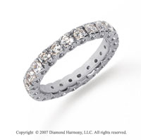 1 1/2 Carat Diamond Platinum Round Tigerclaw Eternity Band