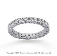 3/4 Carat Diamond 14k White Gold Round Tigerclaw Eternity Band