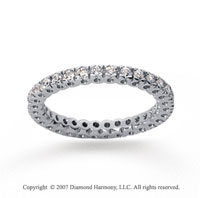 1/2 Carat Diamond 18k White Gold Round Tigerclaw Eternity Band