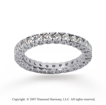 3/4 Carat Diamond 18k White Gold Round Tigerclaw Eternity Band