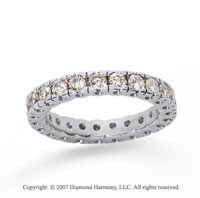 1 Carat Diamond 18k White Gold Round Tigerclaw Eternity Band