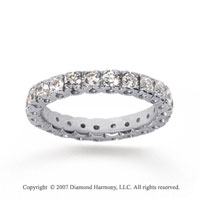 1 1/2 Carat Diamond 18k White Gold Round Tigerclaw Eternity Band