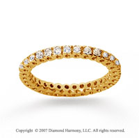 1/2 Carat Diamond 14k Yellow Gold Round Tigerclaw Eternity Band