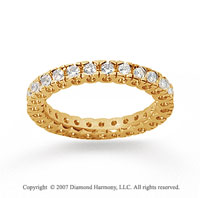 3/4 Carat Diamond 18k Yellow Gold Round Tigerclaw Eternity Band