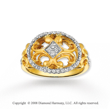 14k Yellow Gold Sophisticated 1/3 Carat Diamond Ring