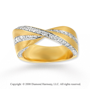 14k Yellow Gold 1 Carat Diamond Fashion Ring