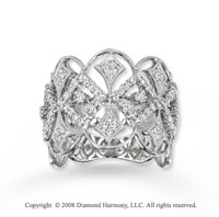 14k White Gold 3/4 Carat Diamond Statement Ring