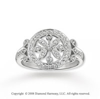 14k White Gold Artistically Stylish 1/4 Carat Diamond Ring