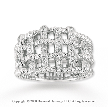 14k White Gold 1/4 Carat Diamond Fashion Ring