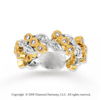 14k Two Tone Gold 1/2 Carat Diamond Fashion Ring