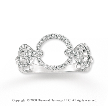 14k White Gold 1/3 Carat Diamond Circle of Life Ring