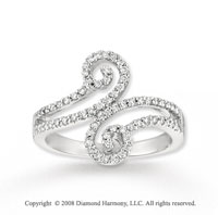 14k White Gold 1/3 Carat Diamond Fashion Ring