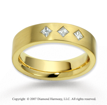 14k Yellow Gold 5.5mm FCF .30  Carat Diamond Anniversary Band