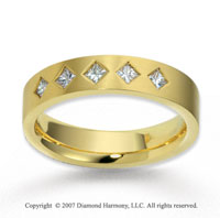 14k Yellow Gold 5.5mm FCF 1/2  Carat Diamond Anniversary Band
