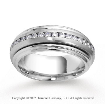 14k White Gold 8mm FCF 1.23  Carat Diamond Anniversary Band