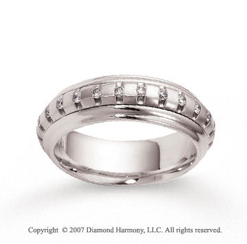 14k White Gold 6.5mm FCF 1/2  Carat Diamond Anniversary Band