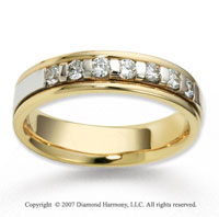 14k Two Tone Gold 4.5mm FCF .28  Carat Diamond Anniversary Band