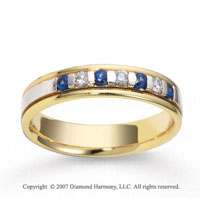 14k Two Tone Gold 4.5mm FCF Diamond Anniversary Band