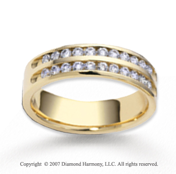14k Yellow Gold 5.5mm FCF .55  Carat Diamond Anniversary Band