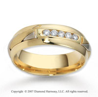 14k Two Tone Gold Braided 7mm CF Diamond Anniversary Band