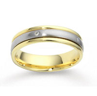 14k Two Tone Gold 4mm FCF Diamond Anniversary Band