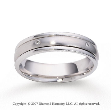 14k White Gold Shiny 5mm CF Diamond Anniversary Band