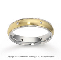 14k Two Tone Gold Braided 4.5mm CF Diamond Anniversary Band
