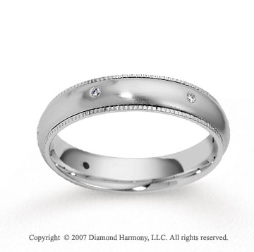 14k White Gold Braided 4.5mm CF Diamond Anniversary Band
