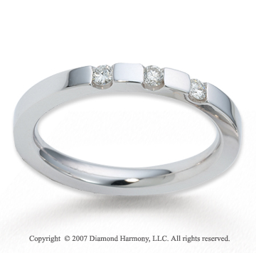 14k White Gold Sleek 2.5mm CF Diamond Anniversary Band