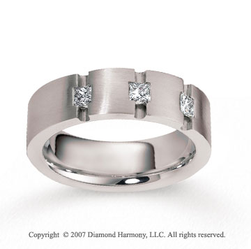 14k White Gold 7mm FCF .48  Carat Diamond Anniversary Band
