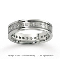 14k White Gold 6mm CF .73  Carat Diamond Anniversary Band