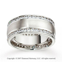14k White Gold 8.5mm FCF 2.10  Carat Diamond Anniversary Band