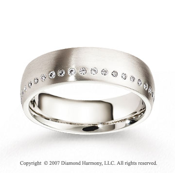 14k White Gold 6mm FCF Diamond Anniversary Band