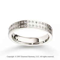 14k White Gold 4mm FCF .46  Carat Diamond Anniversary Band