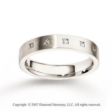 14k White Gold 4mm FCF Diamond Anniversary Band
