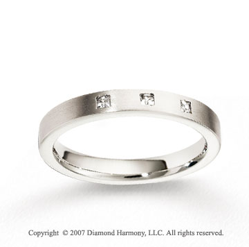 14k White Gold 3mm FCF Diamond Anniversary Band