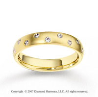 14k Yellow Gold Fashion 4mm FCF Diamond Anniversary Band