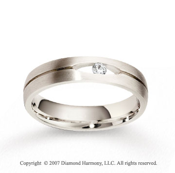 14k White Gold 5mm CF Diamond Anniversary Band