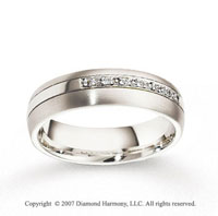 14k White Gold 6mm CF Diamond Anniversary Band