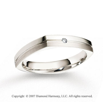 14k White Gold Fashion 4mm CF Diamond Anniversary Band