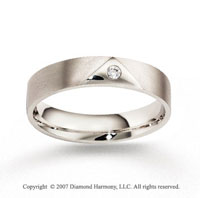 14k White Gold Fashion 5mm CF Diamond Anniversary Band