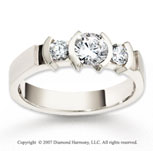 14k White Gold 3.5mm FCF .87  Carat Diamond Anniversary Band