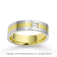 18k Two Tone Gold Stylish 6.5mm FCF Diamond Anniversary Band