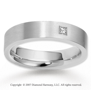18k White Gold Stylish 5.5mm FCF Diamond Anniversary Band